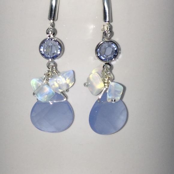 912c4d182 Jewelry | Sterling Silver Blue Blossom Earrings | Poshmark